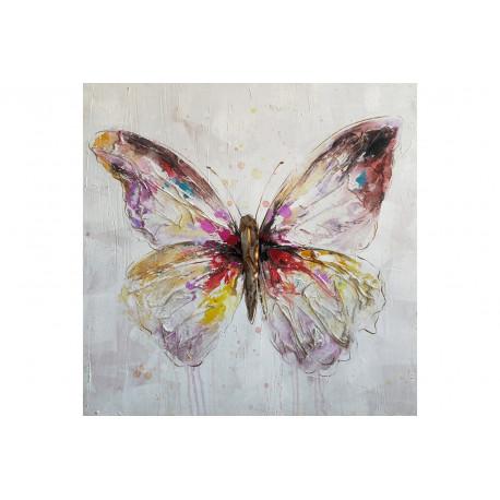 tableau papillon color toile original murs. Black Bedroom Furniture Sets. Home Design Ideas